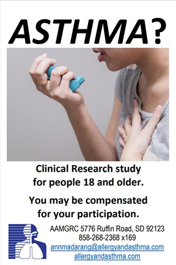 Asthma & Allergy 18 Plus Research Study